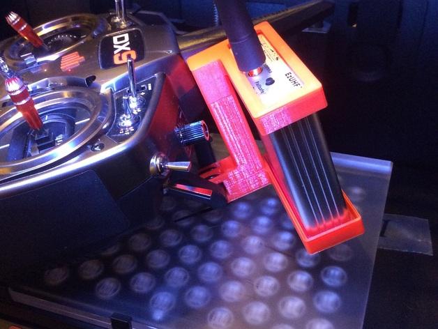 SPEkTRUM DX9 mount for Immersion RC's EzUHF LRS TX