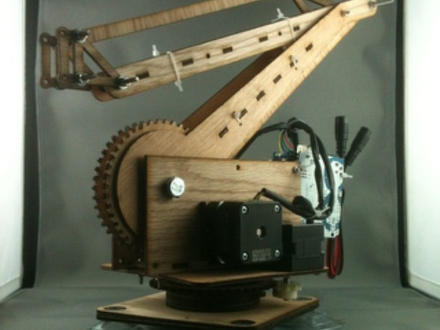 Palletizing Robot Arm (3DOF, 50cm reach, 125g lift)