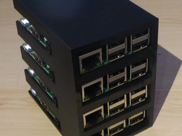 Customizable Raspberry Pi B Pi 2 Rack By Gryphius