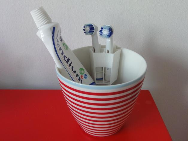 Electric Toothbrush Head Holder For Cup By Madsdyd