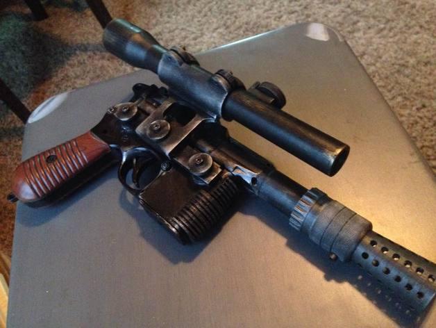 Han Solo Blastech DL-44 conversion parts