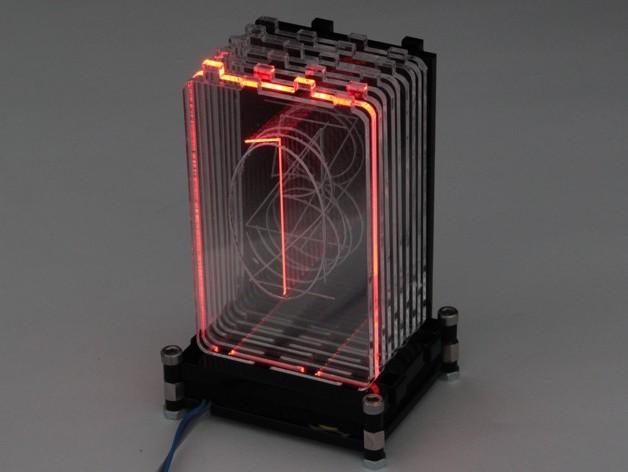 Acrylic RGB Retro Nixie Digits