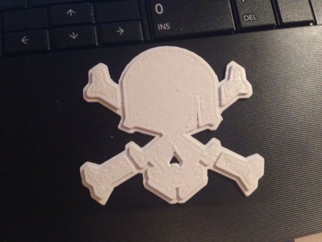 skull and cross bones based on nike hypervenom logo by