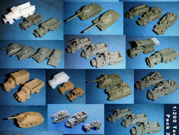 1:200 Tanks and Vehicles - Pack 2