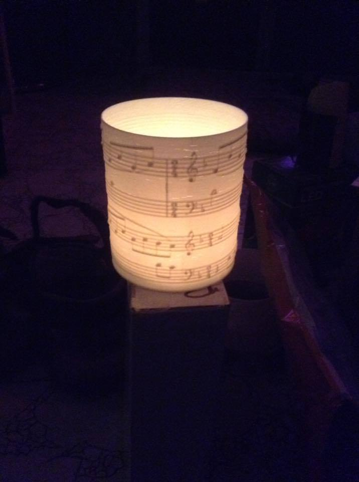 Sounds of silence tea light candle lantern