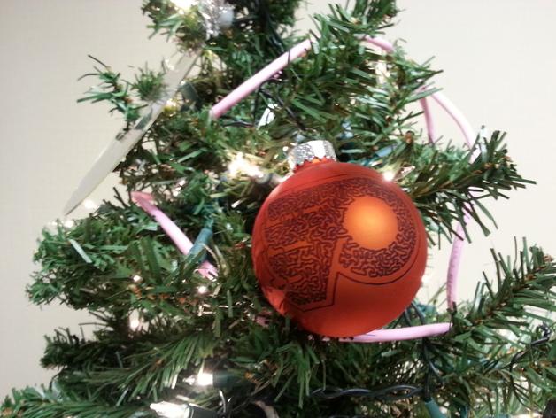 Flyers Stipple Ornament