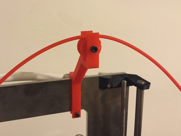 Prusa i3 rolling filament guide by Penzo
