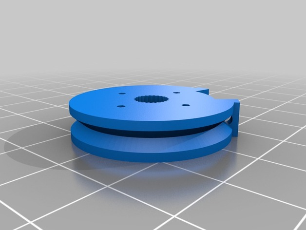 Alt servo pulley for InMoov hand servos.