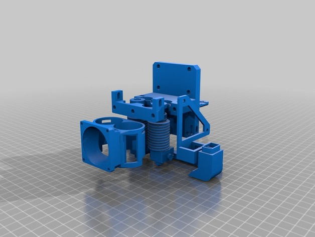 Dual extruder mount with auto bed leveling and 2 fans for Prusa i3 Sunhokey