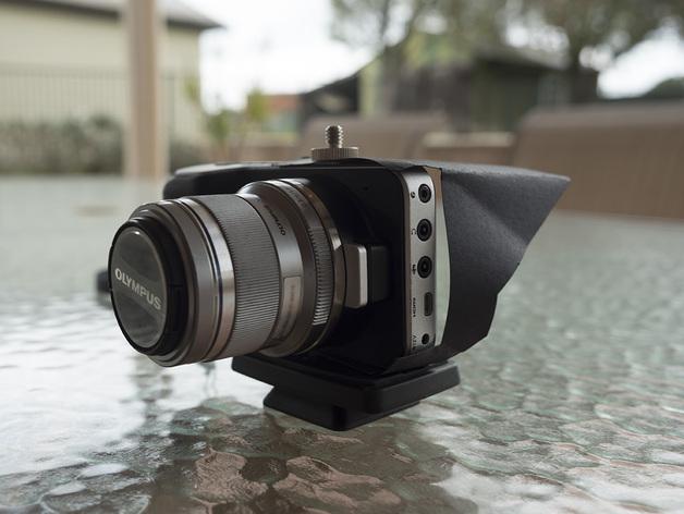 Camera Screen Hood : Blackmagic pocket cinema camera screen hood by
