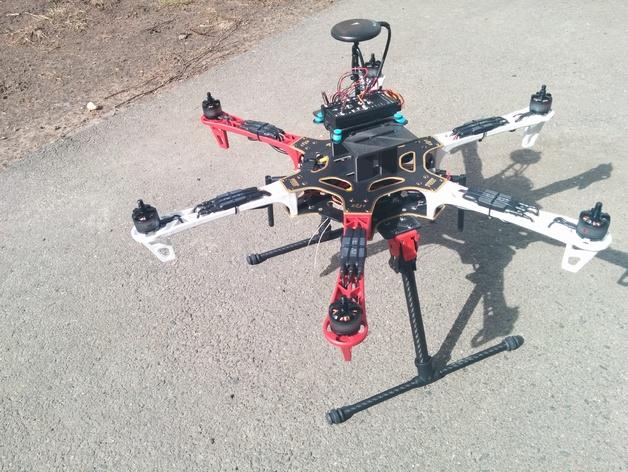3D printed addon set for DJI F550 - DIY Drones