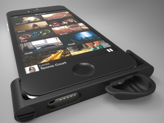 spotify 39 s iphone 5 amplifier by ge thingiverse. Black Bedroom Furniture Sets. Home Design Ideas
