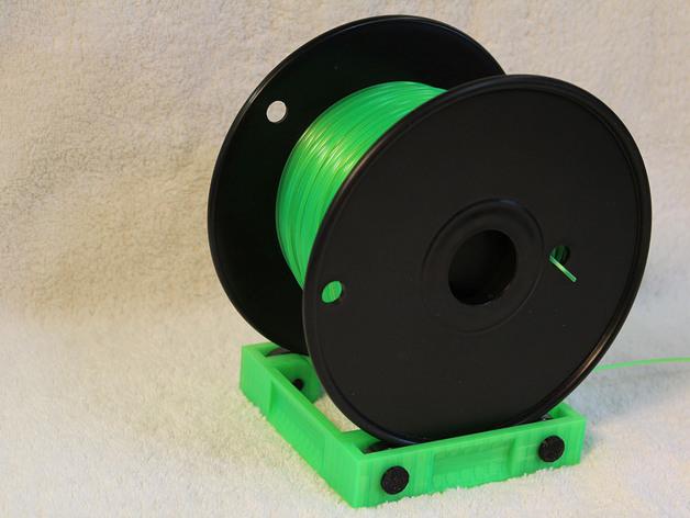 3D printer filament spool holder, fully-printable