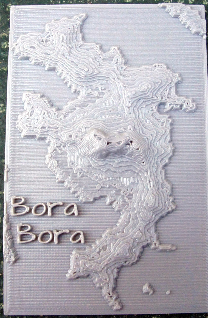 Relief Maps of Bora Bora